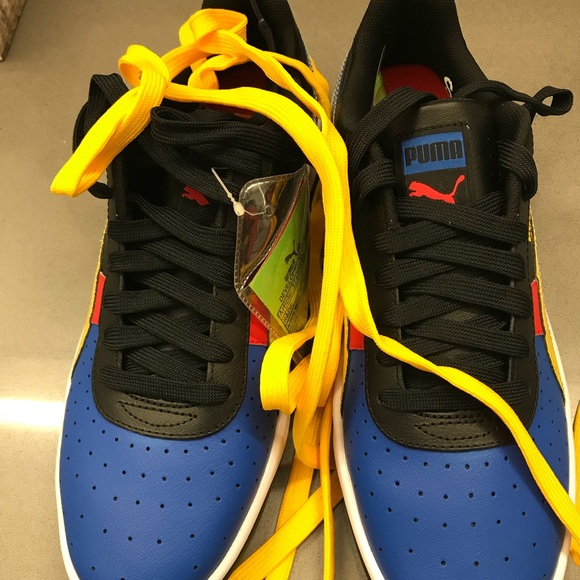 puma yellow red blue